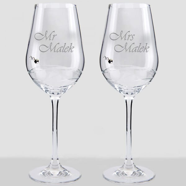 Personalized Engaged Wine Glass, Engagement Wine Glass